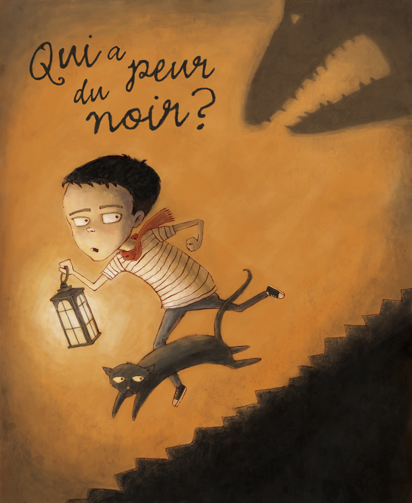 """""""Who's afraid of the dark?"""" illustration by Alice Ratterree"""