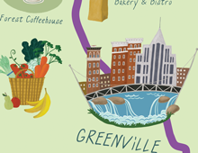 Illustrated Swamp Rabbit Trail Map